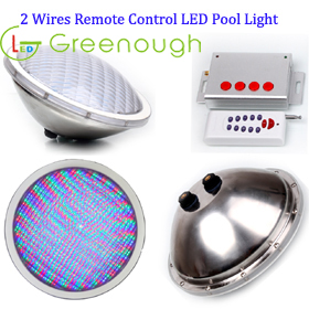 2 Wires Remote control RGB LED Pool Light/ LED Underwater Light GNH-P56B-S3*252