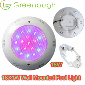 Wall Mounted LED Pool Light/ RGB Pool Pond Light GNH-P56B-P56M-18*1W-V1