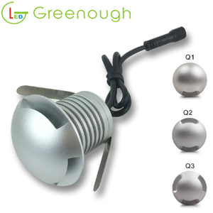 3W Side View Up LED Underground Light LED Recessed Deck Floor Light Outdoor Garden Lamp style# GNH-IG-3W-H-B-Q1 Q2 Q3